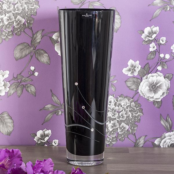 Dartington Noir Conical Large Vase - Vase Gifts