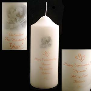 Valentines Day Personalised Photo Candle Standard