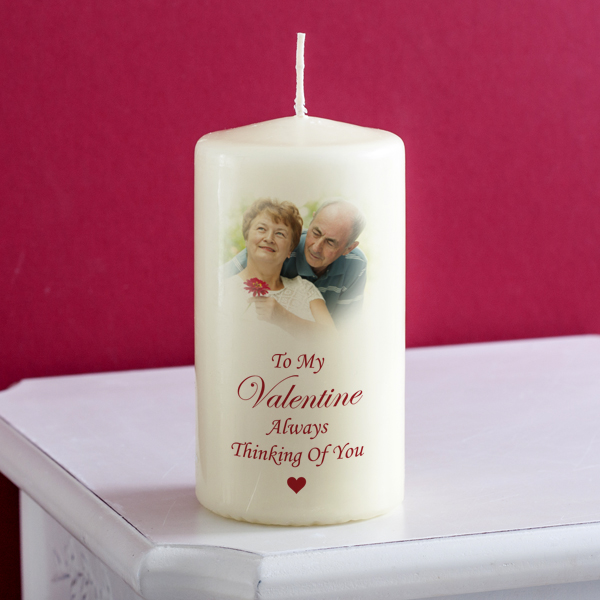 Valentines Day Personalised Photo Candle Standard - Valentines Day Gifts