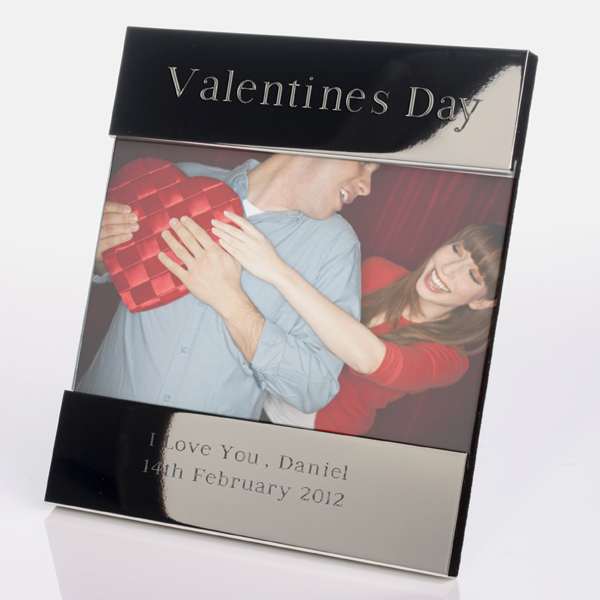 Engraved Valentine's Day Photo Frame