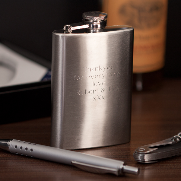 Stainless Steel Hip Flask, Pen & Waiters Friend - Friend Gifts