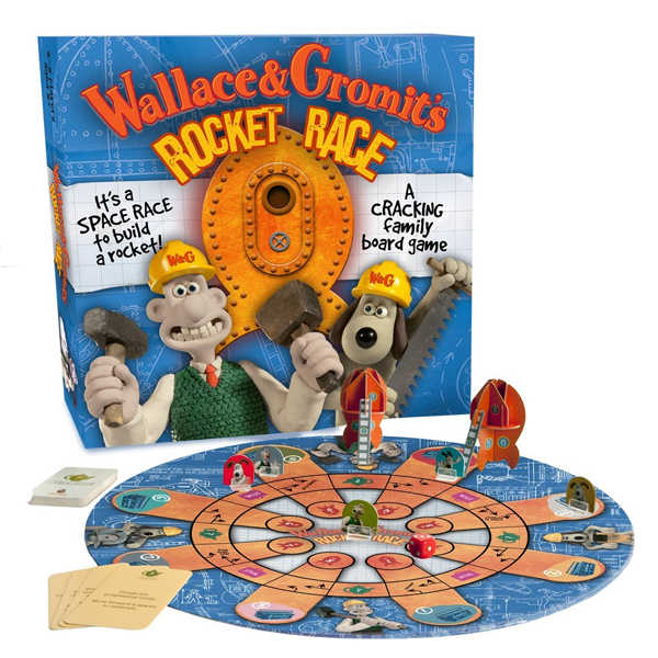 Wallace and Gromit Rocket Race Board Game - Board Game Gifts