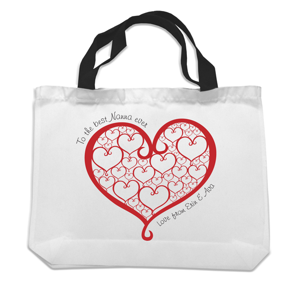 The Best Nanna Black Handled Shopping Bag - The Gift Experience Gifts