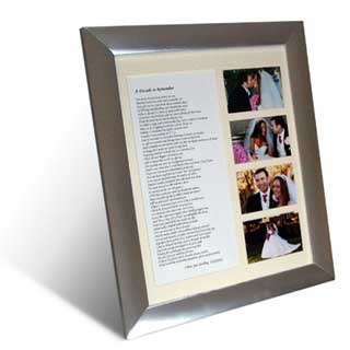 Personalised Poem And Pictures (Wedding)