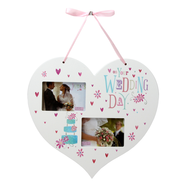 Wedding Day Hanging Heart Photo Frame