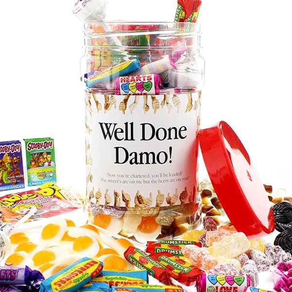 Well Done Personalised Retro Sweets Medium - Sweets Gifts