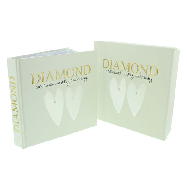 Diamond Anniversary Photo Album and Keepsake Box