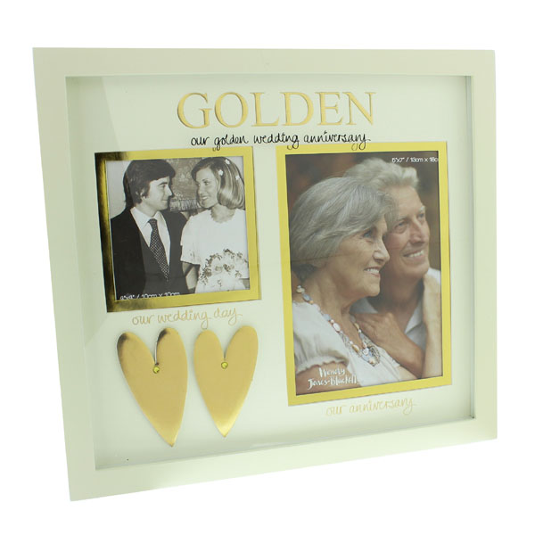 Our Golden Wedding Anniversary Then And Now Photo Frame