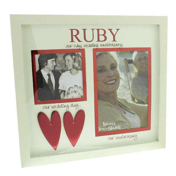 Our Ruby Wedding Anniversary Then And Now Photo Frame