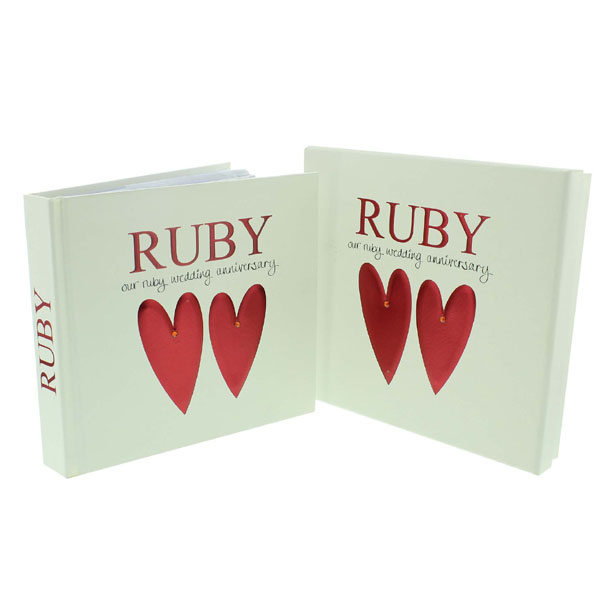 ruby anniversary photo album and keepsake box