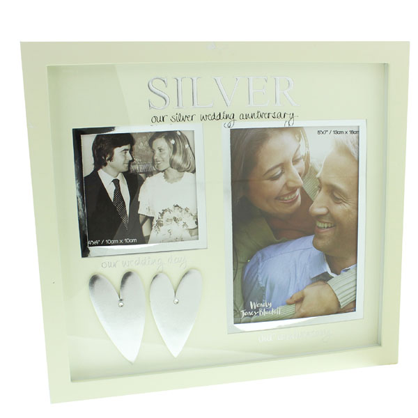 Our Silver Wedding Anniversary Then and Now Photo Frame