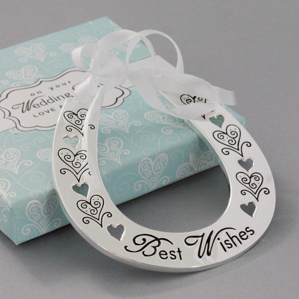 Wedding Day Best Wishes Horseshoe - Wedding Gifts