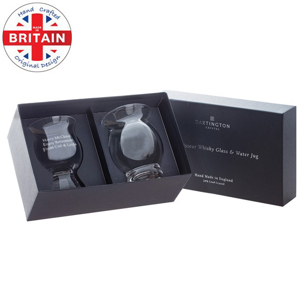 Personalised Dartington Crystal Whisky Connoisseur Gift Set