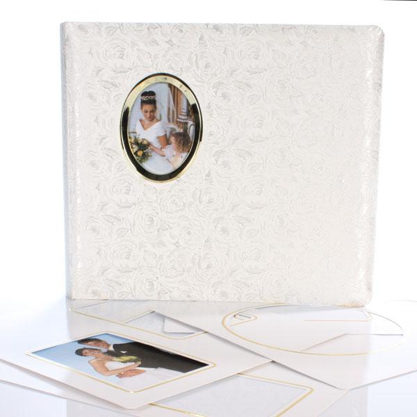 White Satin Rose Wedding Album And Kit