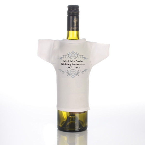 Personalised Anniversary Wine Bottle T-Shirt