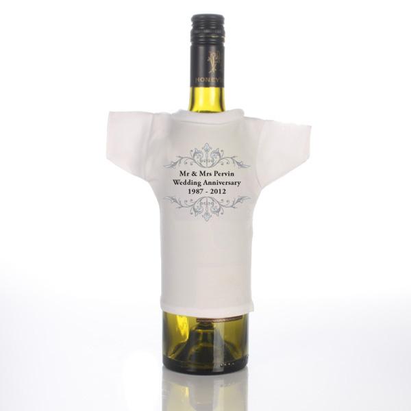 Personalised Anniversary Wine Bottle TShirt
