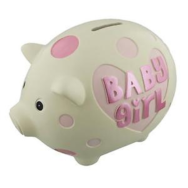 Baby Girl Large Piggy Bank - Piggy Bank Gifts