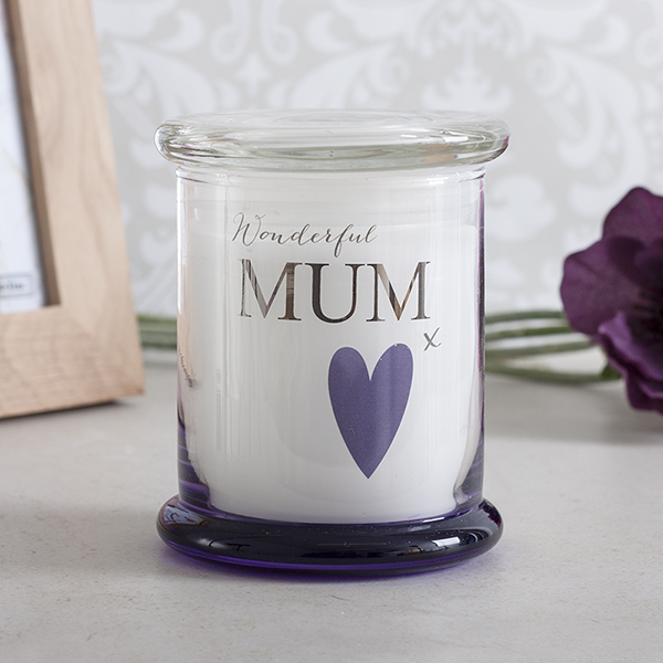 Wonderful Mum Scented Jar Candle - Mum Gifts