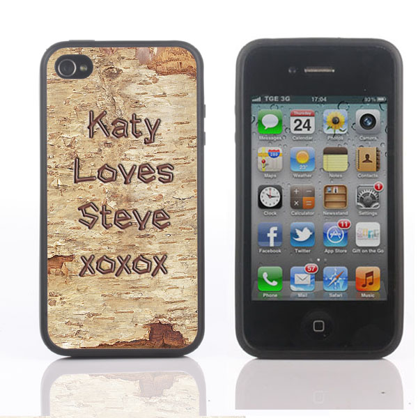 Personalised Wooden Effect iPhone Cover - Available for 4/4S and 5 - 18th gift