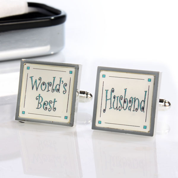 Personalised Worlds Best Husband Cufflinks