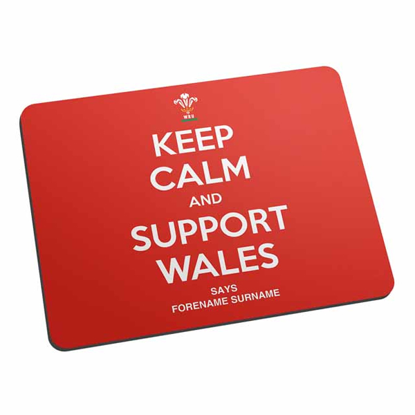 Welsh Rugby Union Keep Calm And Support Wales Mouse Mat