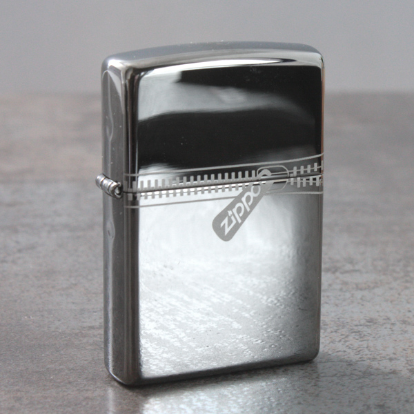 Personalised Zippo Black Ice Zipped Effect Lighter - Lighter Gifts