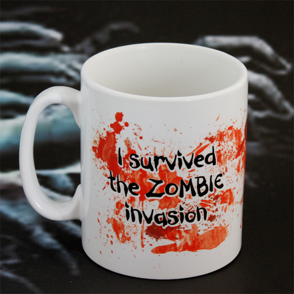 Personalised I survived a Zombie Invasion Mug - Zombie Gifts